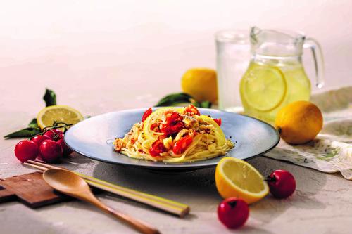 真鱈のラグー瀬戸内レモンのペペロンチーノ